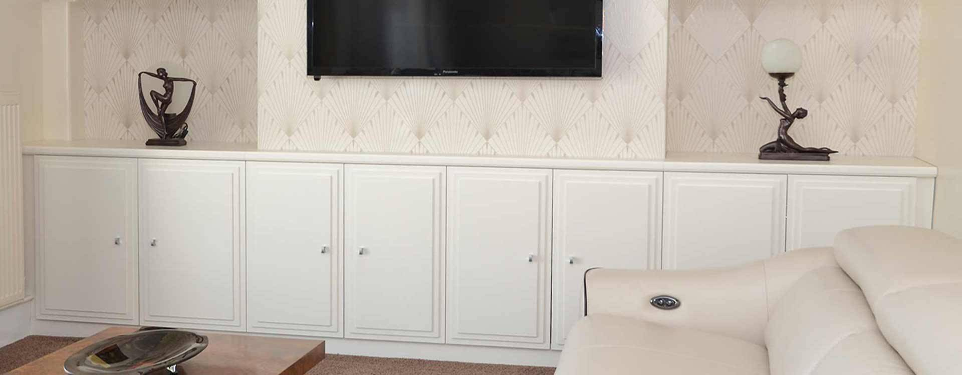 art deco style painted tv cupboards unit